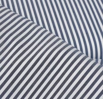 Tela vichy rayas azul marino - 2