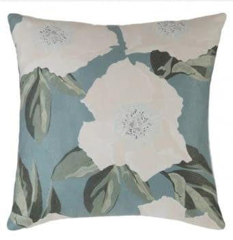 Cojines flores azul y gris 45 x 45 - 1