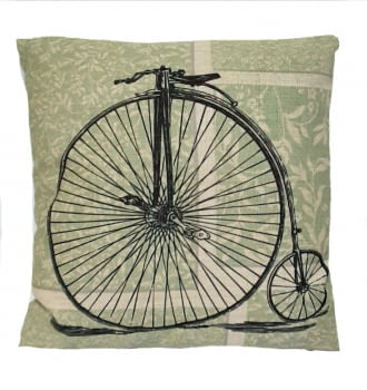 Cojines verdes bicicleta 45 x 45