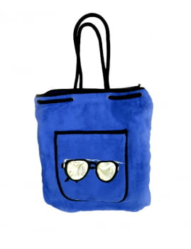 Toalla de playa azul bolsa