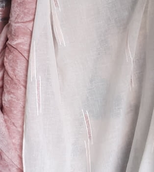 Tela visillo trazas rosas