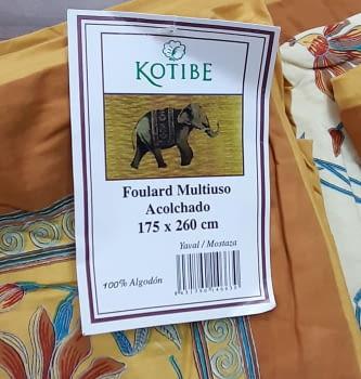 Boutie acolchado mostaza India - 6