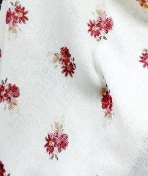 Tela Visillo rústico florecitas