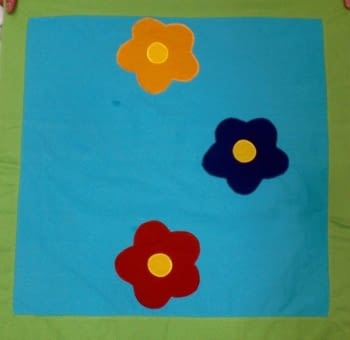 Buti apliques flor - 1
