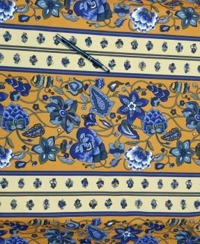 Tela Algodón mostaza flor 150 - 1