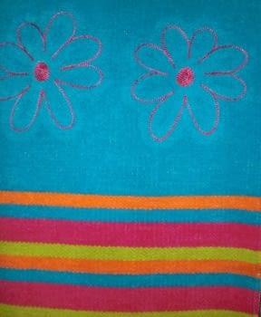 Alfombra rayas/flor - 1