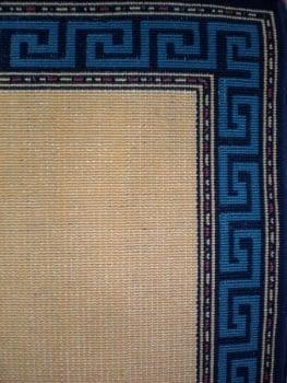 Alfombra greca azul - 1