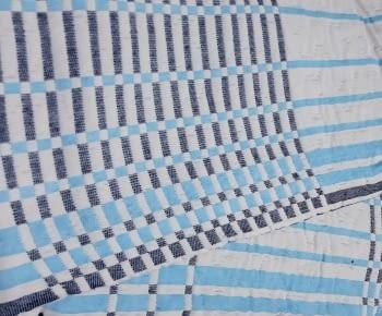 Colchas reversibles cuadros azul 90 - 1