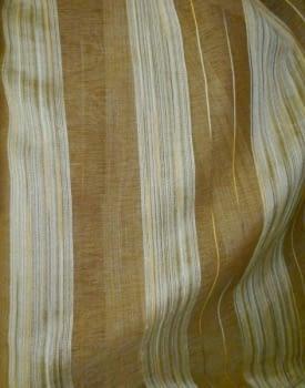 Tela Visillo rayas marrón