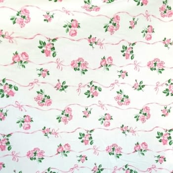 Tela Algodón rosas 140