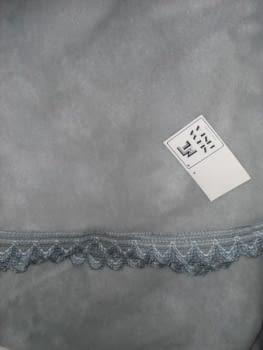 Faldilla terciopelo gris 80 - 1