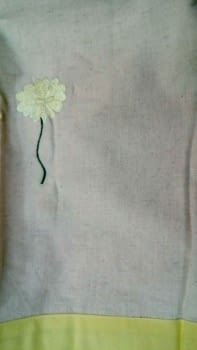 Colchas multiusos flor bordada - 3