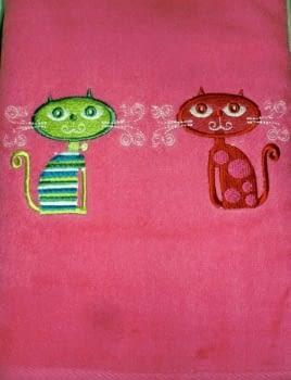 Juego 3 Toallas gatos - 3