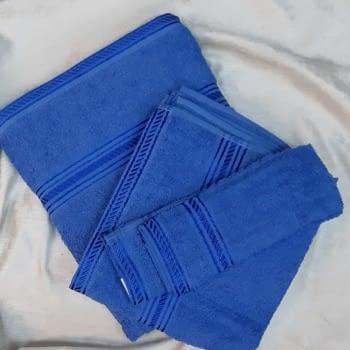 Juego 3 Toallas azul - 2