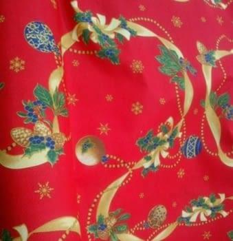 Tela Loneta Navidad roja 280