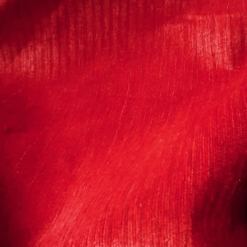 Tela Chenilla roja