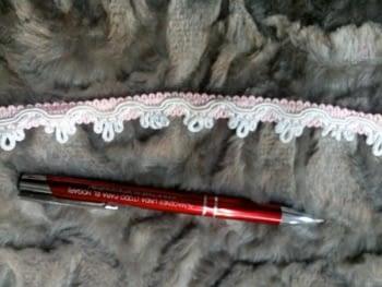 Galón blanco rosa - 1