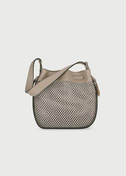 LIU·JO bolso trenzado color piedra y negro
