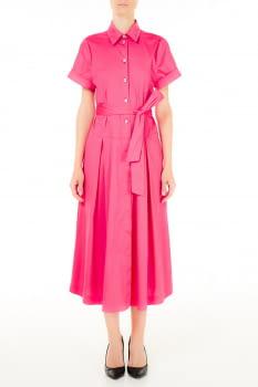 LIU·JO vestido camisero largo color frambuesa - 1