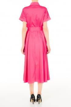 LIU·JO vestido camisero largo color frambuesa - 2