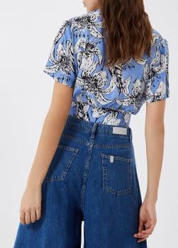 LIU·JO camisa manga corta cruzada estampado  tupilanes azul - 2