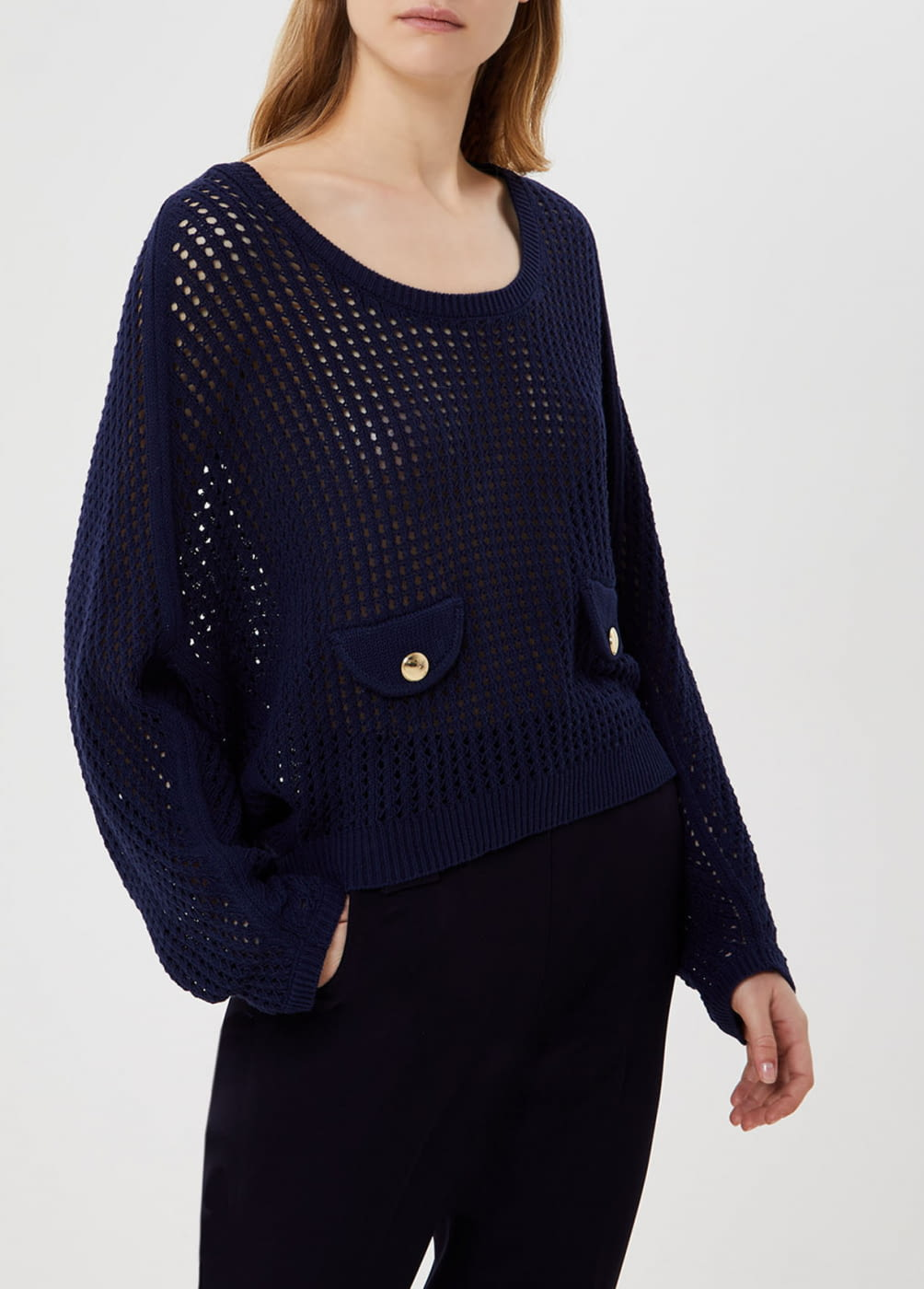 LIU·JO jersey crochet azul marino