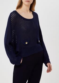 LIU·JO jersey crochet azul marino - 1