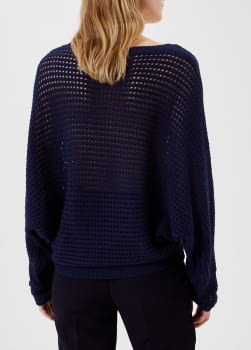 LIU·JO jersey crochet azul marino - 3