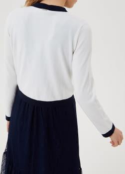 LIU·JO chaqueta crudo y azul marino con logo - 2