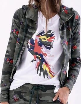 MET chaqueta en felpa con estampado camuflage