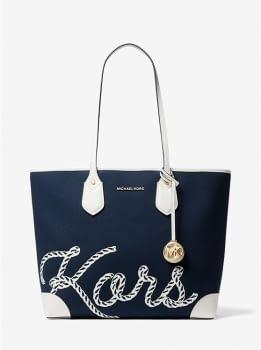 MICHAEL KORS shopping azul marino con logo - 1