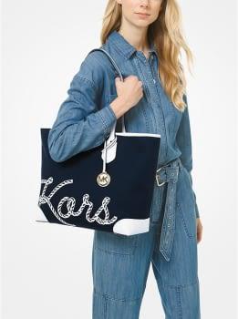 MICHAEL KORS shopping azul marino con logo - 4