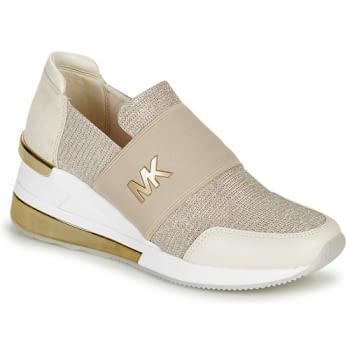 MICHAEL KORS zapato topolino elástica champagne - 1