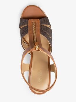 MICHAEL KORS sandalia cremallera col. marrón con  logo - 5
