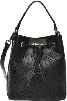 LOVE MOSCHINO bolso judas negro troquelado con  logo