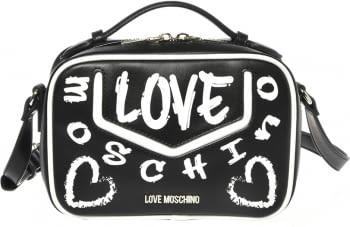 LOVE MOSCHINO bolso negro y blanco con letras