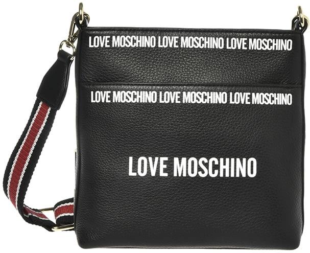 LOVE MOSCHINO bandolera negra con logotipo