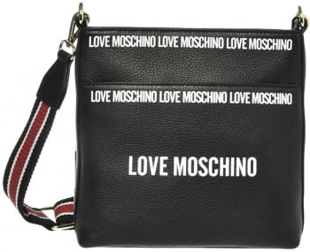 LOVE MOSCHINO bandolera negra con logotipo - 1