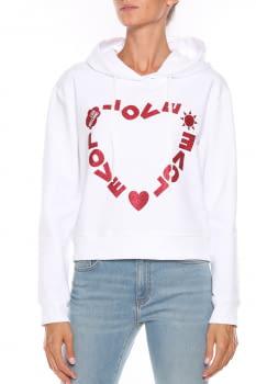 LOVE MOSCHINO sudadera blanca con logo