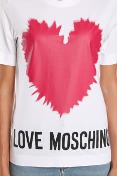 LOVE MOSCHINO camiseta blanca con logo y corazón - 3