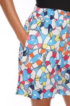 LOVE MOSCHINO bermuda estampada multicolor - 3