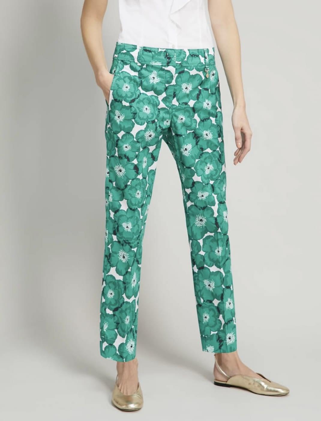 PENNYBLACK pantalón estampado verde