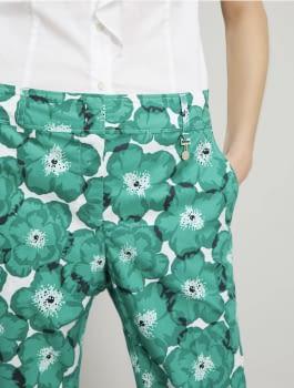 PENNYBLACK pantalón estampado verde - 3