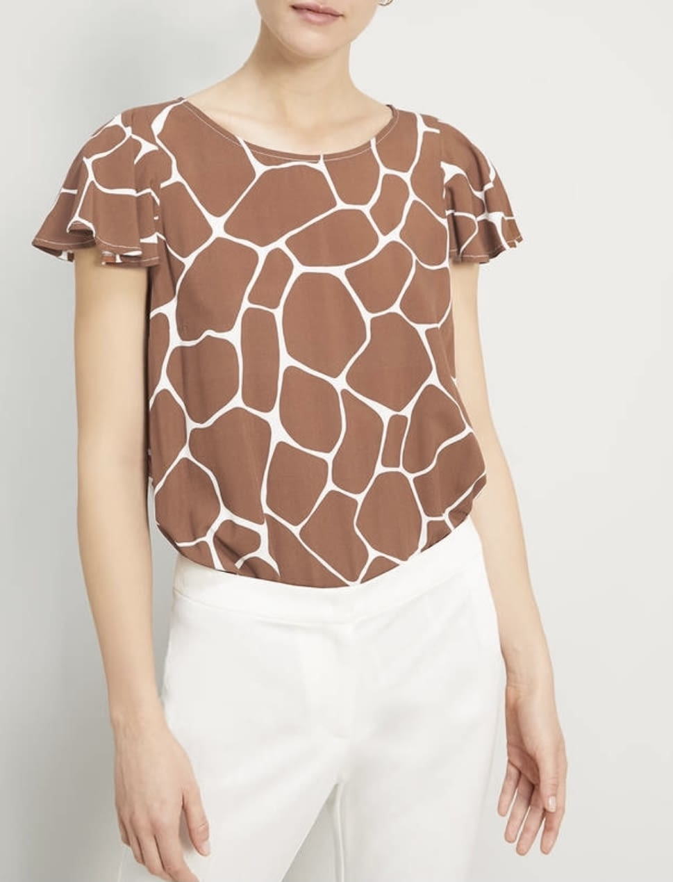 PENNYBLACK camisa sin manga estampado girafa