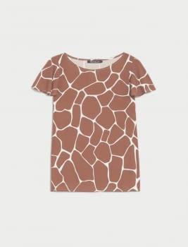 PENNYBLACK camisa sin manga estampado girafa - 3