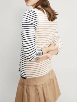 PENNYBLACK jersey crudo con rayas marino y camel - 3