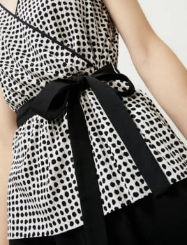 PENNYBLACK top topos sin mangas blanco y negro - 3