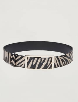PENNYBLACK cinturón estampado zebra