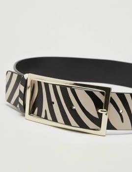 PENNYBLACK cinturón estampado zebra - 2