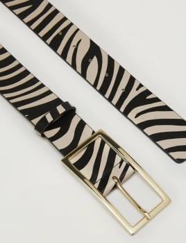 PENNYBLACK cinturón estampado zebra - 3